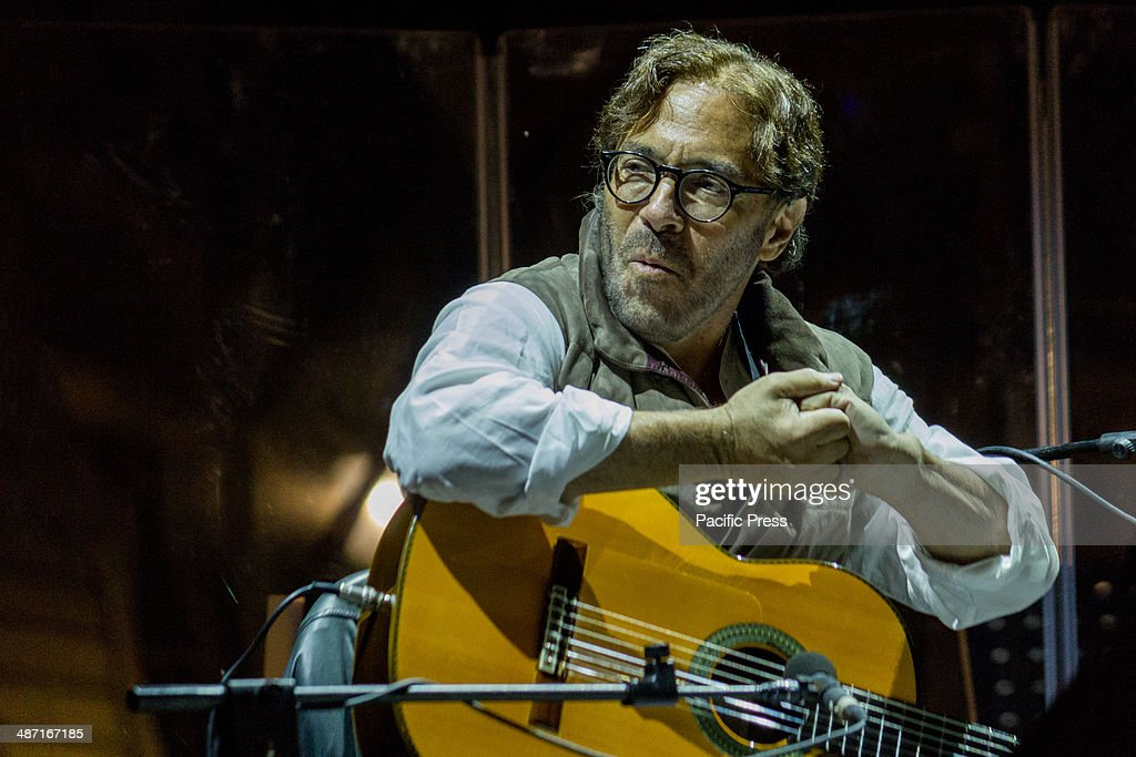The U.S. guitarist Al Di Meola performed live, in Castle Square during the third day of Turin Jazz Festival 2014. He is considered the rising star of jazz-rock.