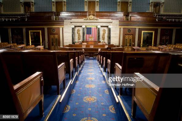 The US House of Representatives chamber is seen December 8 2008 in Washington DC Members of the media were allowed access to film and photograph the...