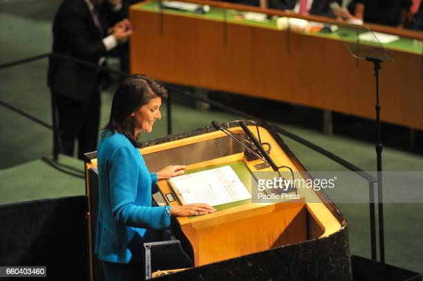 The US Permanent Representative to the United Nations Ms Nikki Haley participated this morning at the United Nations General Assembly event of the...