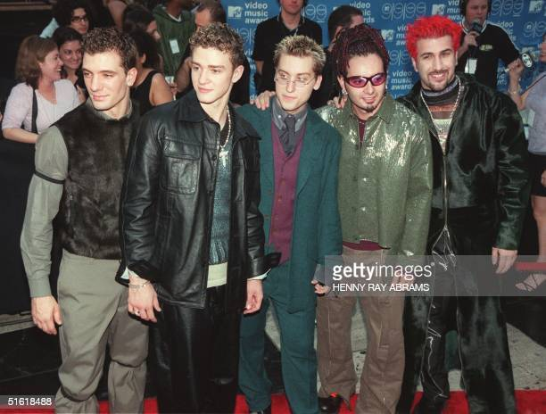 The US singing group N'Sync arrive for the MTV Video Music Awards at the Metropolitan Opera House at Lincoln Center in New York on 09 September 1999...
