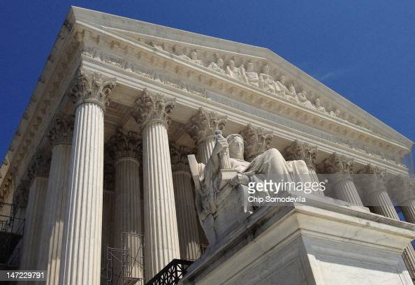 The US Supreme Court building June 27 2012 in Washington DC The high court could hand down a landmark ruling on the Affordable Care Act as early as...