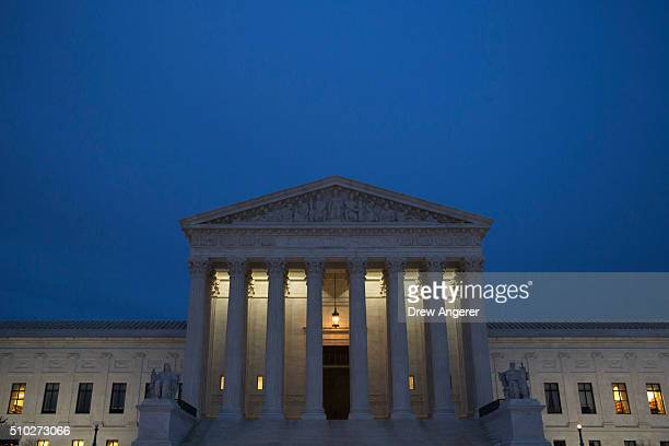 WASHINGTON DC FEBRUARY The US Supreme Court is seen in at dusk on February 14 2016 in Washington DC Supreme Court Justice Antonin Scalia was at a...