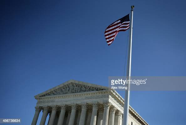 The US Supreme Court is seen October 6 2014 in Washington DC The Supreme Court announced that it will not hear the five pending samesex marriage...