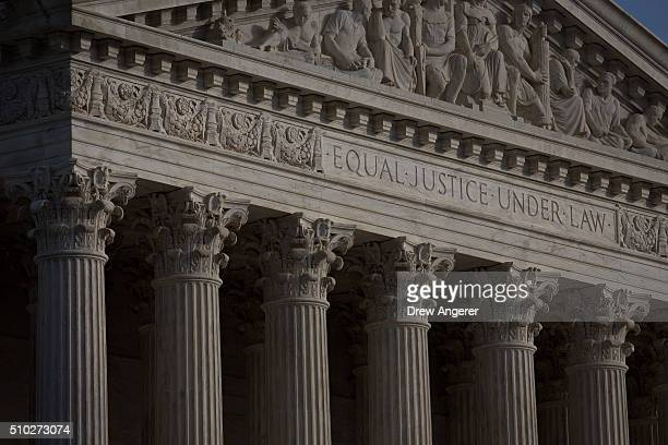 WASHINGTON DC FEBRUARY The US Supreme Court is seen on February 14 2016 in Washington DC Supreme Court Justice Antonin Scalia was at a Texas Ranch...