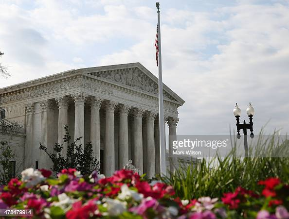 The US Supreme Court is shown after a ruling was announced in favor of the Affordable Care Act June 25 2015 in Washington DC The high court ruled...