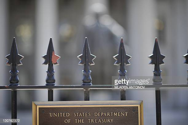 The US Treasury Department in Washington DC is seen on August 08 2011 after Standard Poor's cut the US credit rating for the first time in history...