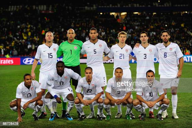 The USA players line up for a team photo prior to the FIFA Confederations Cup Final between USA and Brazil at the Ellis Park Stadium on June 28 2009...