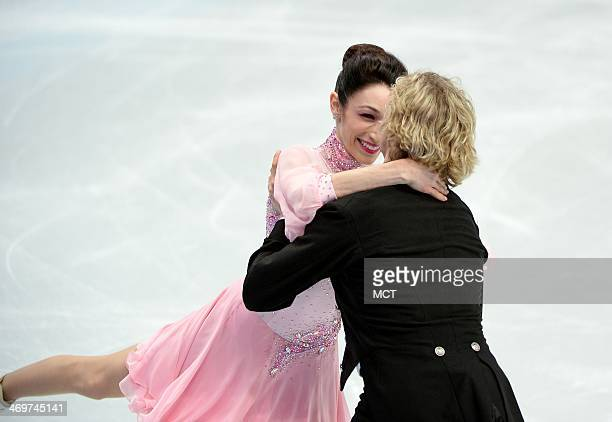 The USA's Meryl Davis and Charlie White perform their short dance during the figure skating ice dancing competition at the Iceberg Skating Palace...