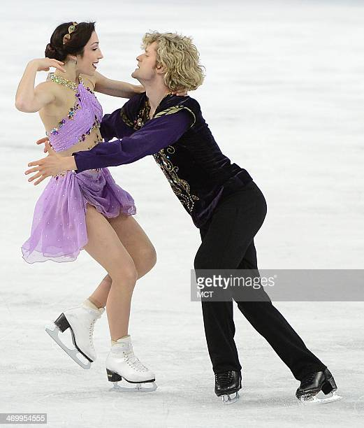 The USA's Meryl Davis and Charlie White perform to 'Scheherazade' during their free dance in the ice dancing competition at the Iceberg Skating...