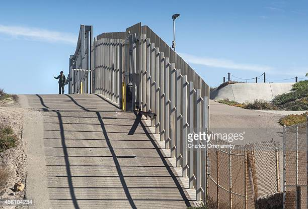 The USMexico border fence at Friendship Park on January 26 2014 in San Diego California The US Border Patrol allows people on the American side to...