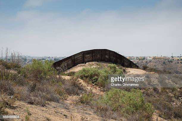 The USMexico border fence overlooking Tijuana Mexico on May 27 2014 near San Diego California