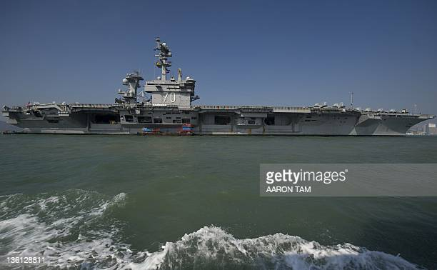 The USS Carl Vinson a US nuclear powered aircraft carrier is seen in Hong Kong waters on December 27 2011 The USS Carl Vinson which was commissioned...