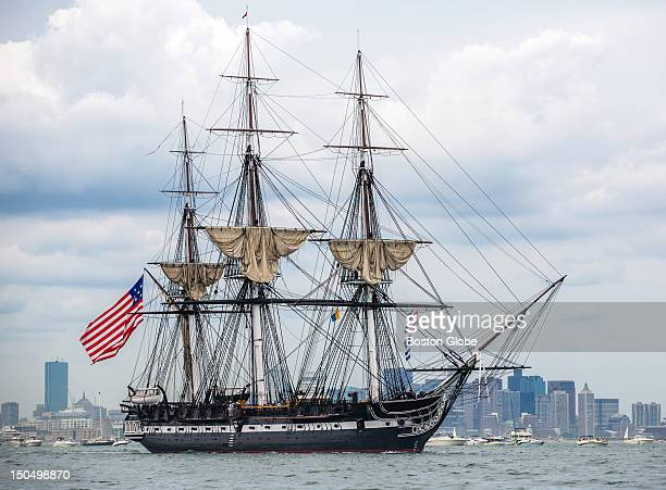 The USS Constitution set sail for the first time since 1997 in Boston Harbor The short voyage commemorates the USS Constitution's victory over the...
