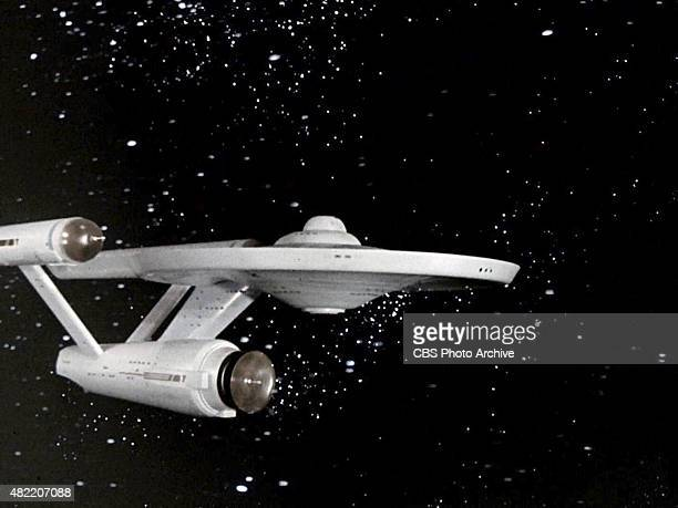The USS Enterprise during the opening credit for in the STAR TREK The Original Series episode 'The Cage' This is the pilot episode completed early...