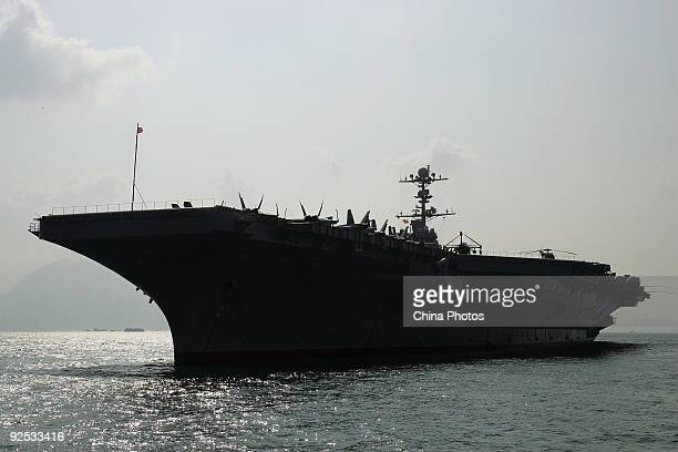 The USS George Washington sails into at Victoria Harbour on October 29 2009 in Hong Kong China The battle carrier group made its first time stop in...