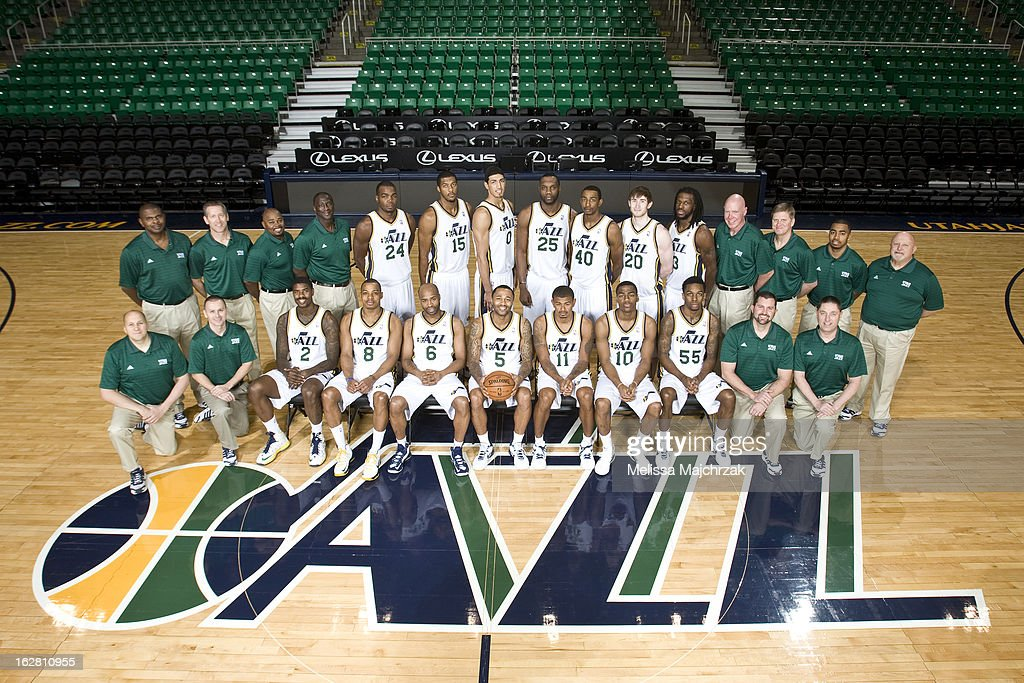 The Utah Jazz Team Photo at Energy Solutions Arena on February 27, 2013 in Salt Lake City, Utah.