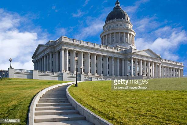 The Utah State Capitol building in Salt Lake City Utah USA