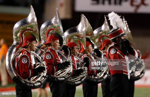 The Utah Utes band play before the start of an college football game against the Stanford Cardinal on October 7 2017 at Rice Eccles Stadium in Salt...