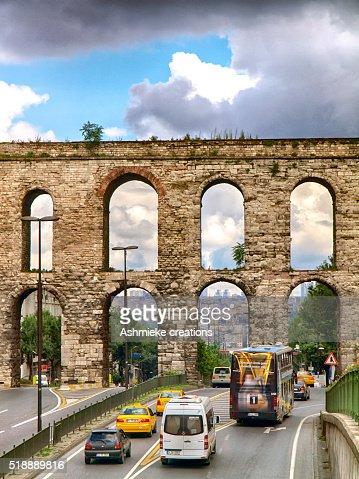 The Valens Aqueduct, Istanbul Turkey