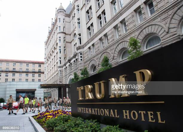 The valet entrance to the Trump International Hotel in Washington DC on June 16 2017