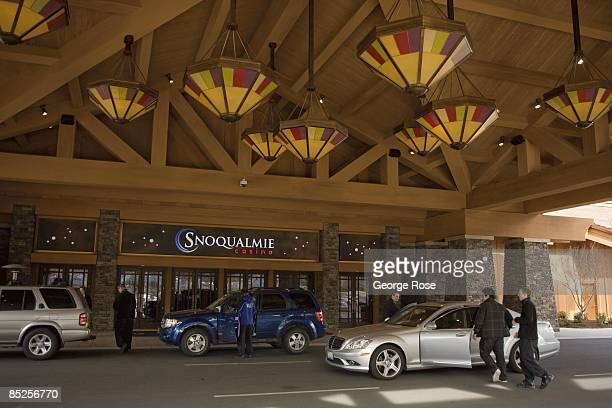 The valet parking entrance at the new Snoqualmie Casino is seen in this 2009 Snoqualmie Washington photo