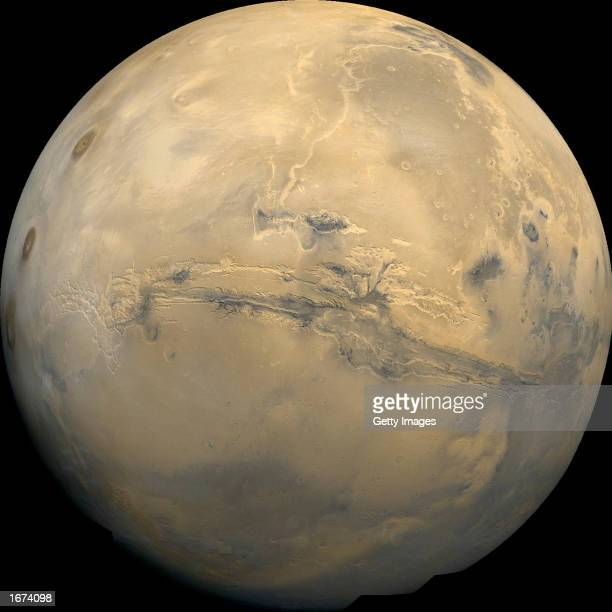 The Valles Marineris is shown in this undated composite image of the surface of the planet Mars The gigantic Valles Marineris can be compared to the...