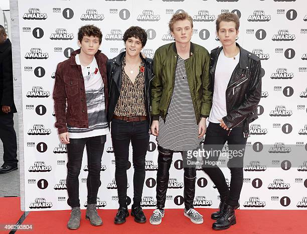 The Vamps attend the BBC Radio 1 Teen Awards at Wembley Arena on November 8 2015 in London England