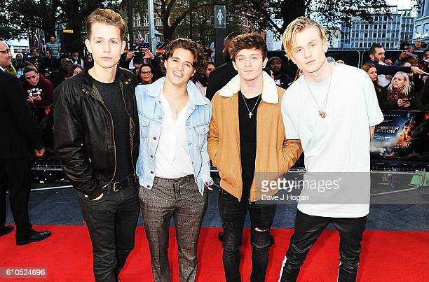 The Vamps attend the European Premiere of 'Deepwater Horizon' at Cineworld Leicester Square on September 26 2016 in London England