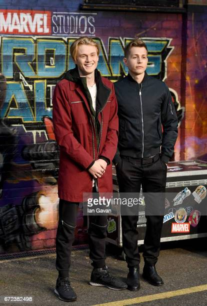 The Vamps attends the European launch event of Marvel Studios' 'Guardians of the Galaxy Vol 2' at the Eventim Apollo on April 24 2017 in London...