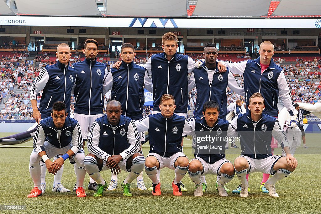 The Vancouver Whitecaps' starting eleven pose for a photo before their match against Chicago Fire at B.C. Place on July 14, 2013 in Vancouver, British Columbia, Canada.