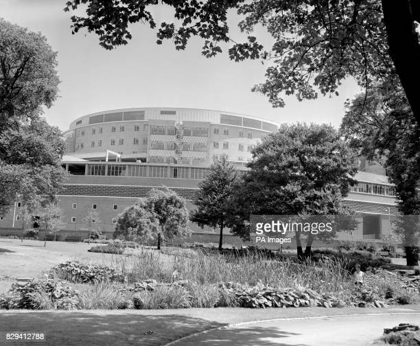 The vast circular building which forms the main block of the British Broadcasting Corporation's 10 million Television Centre in Wood Lane When...
