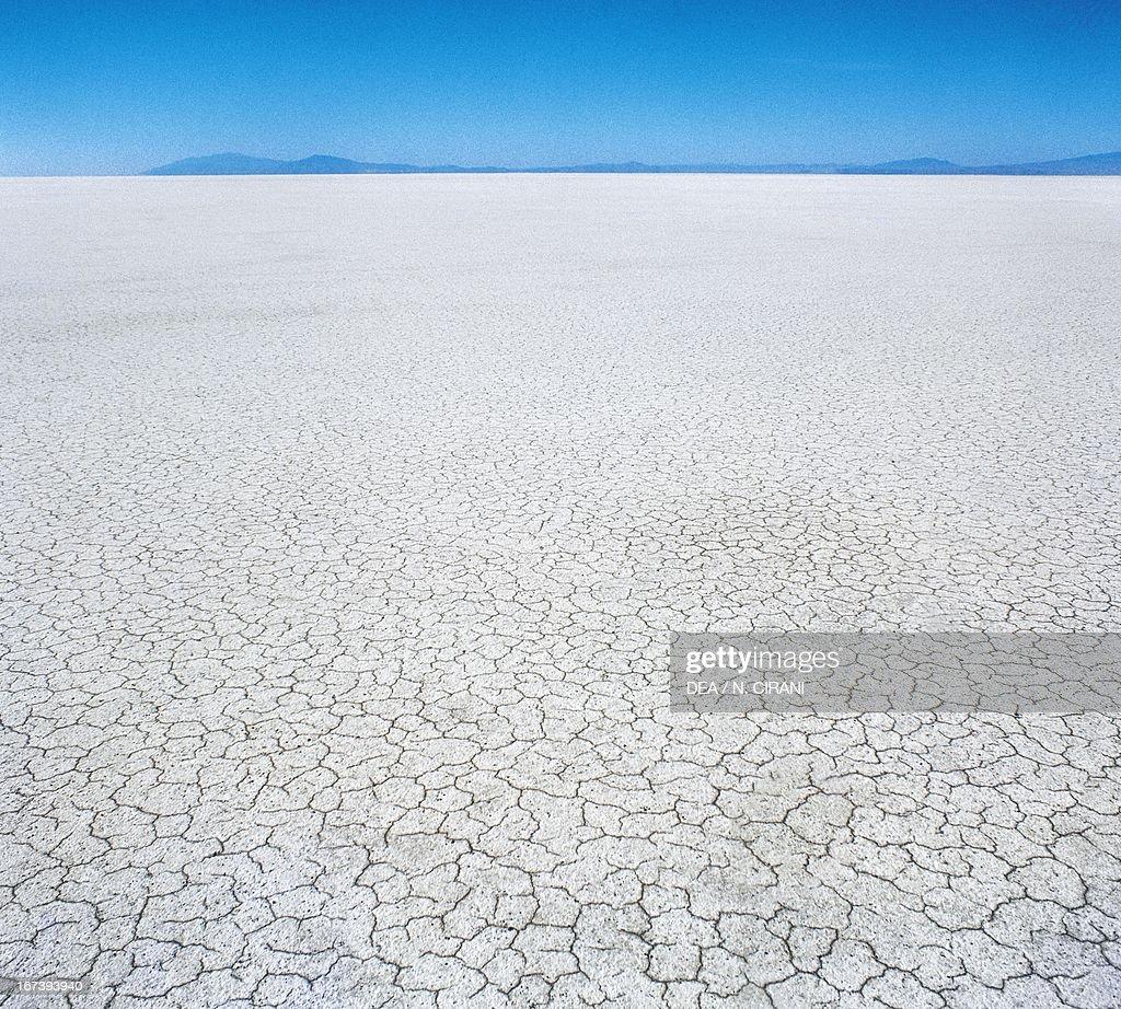 The vast desert of the Great Salt Lake Utah United States