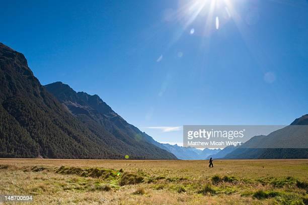 The vast plains surrounding Milford Sound National Park