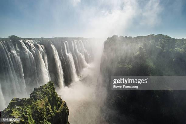 The vast Victoria Falls