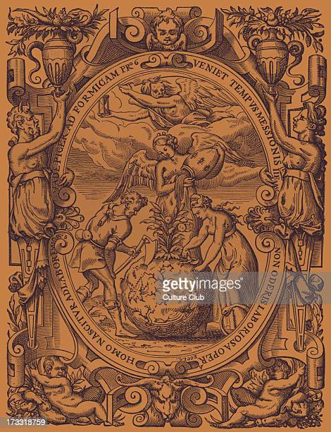 The Vegetable Kingdom' bookplate of Guillaume Merlin bookseller in Paris mid 16th century Design attributed to Jean Cousin