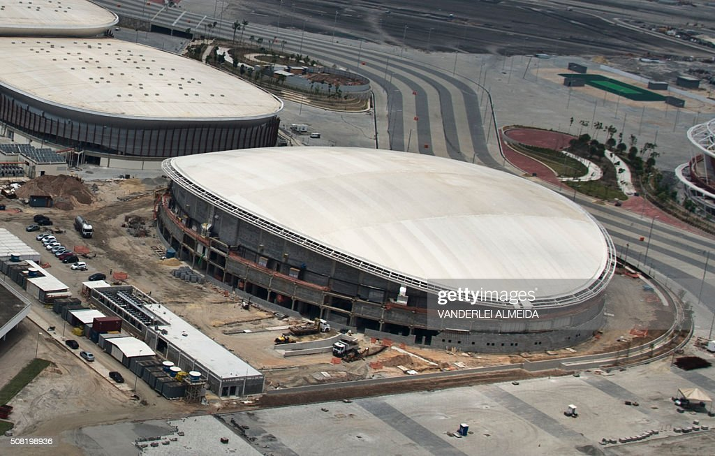 The Velodrome under construction at the Olympic Village in Rio de Janeiro Brazil on February 3 2016 ALMEIDA