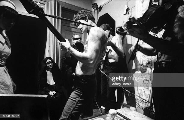 The Velvet Underground perform for 'Venus in Furs' an underground film by Piero Heliczer New York November 1965 Lou Reed