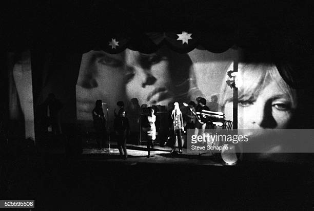 The Velvet Underground performing on stage during Andy Warhol's Exploding Plastic Inevitable