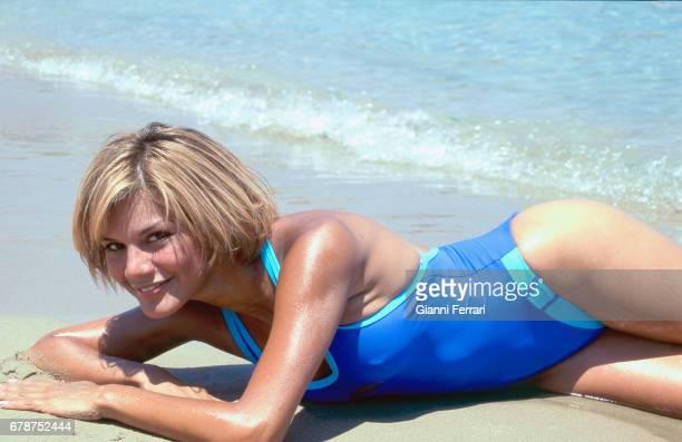 The Venezuelan actress and presenter of Television Ivonne Reyes Crete Island Greece