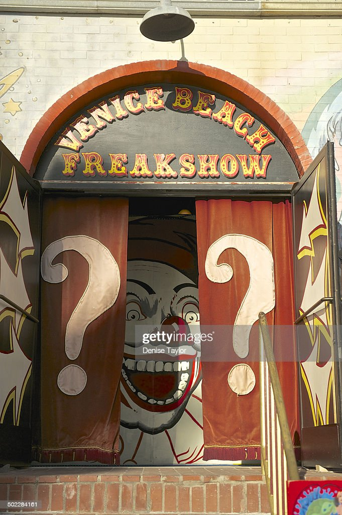 The Venice beach freakshow on the Venice beach boardwalk They have a collection of oddities as well as performances such as sword swallowing Now the...