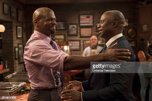 NINE 'The Venue' Episode 506 Pictured Terry Crews as Terry Jeffords Andre Braugher as Ray Holt