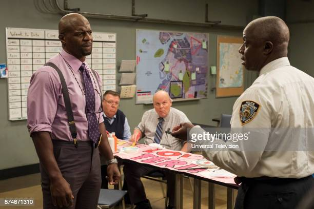 NINE 'The Venue' Episode 506 Pictured Terry Crews as Terry Jeffords Joel McKinnon Miller as Norm Scully Dirk Blocker as Michael Hitchcock Andre...