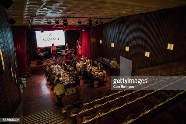 The venue for the David Jones Canali Launch at Restaurant Hubert on April 27 2017 in Sydney Australia