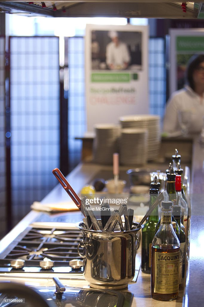 The Venue Kitchen is prepped for the Milwaukee Recipe Refresh Challenge at Il Mito Restaurant on March 06, 2014 in Wauwatosa, Wisconsin.
