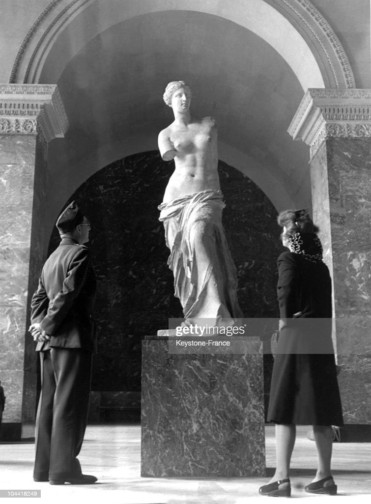 The Venus of Milo is re-exposed to the Louvre after having been sheltered from bombings and Nazi greed July 2, 1945.