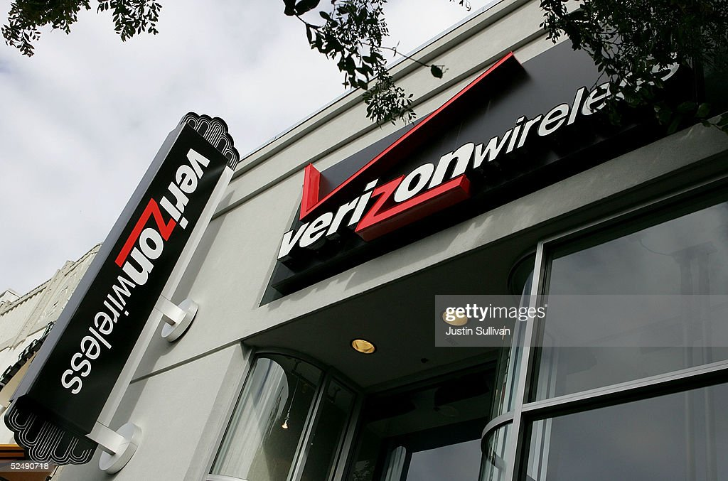 The Verizon logo is seen at a Verizon Wireless store March 29, 2005 in San Francisco. MCI Inc. accepted a $7.64 billion takeover proposal from Verizon Communications Inc. on Tuesday that raises the price tag by $1 billion, but is still nearly a billion dollars shy of the latest bid from Qwest Communications International Inc.