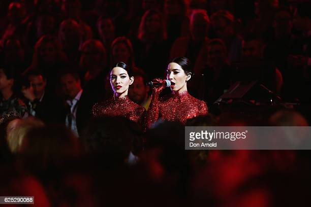 The Vernonica's perform during the 30th Annual ARIA Awards 2016 at The Star on November 23 2016 in Sydney Australia