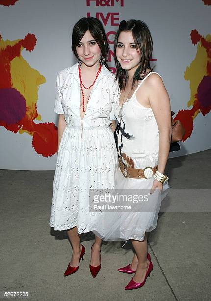 The Veronicas attend the 'HM Live From Central Park' fashion show April 20 2005 in New York City