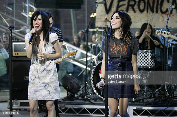 The Veronicas during 'The Veronicas' Perform Live Channel 7's Sunrise August 11 2006 at Channel 7 in Sydney NSW Australia