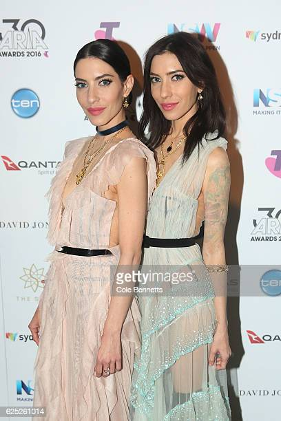 The Veronicas pose in the media room during the 30th Annual ARIA Awards 2016 at The Star on November 23 2016 in Sydney Australia
